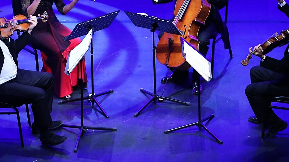 Ein Quartett musiziert