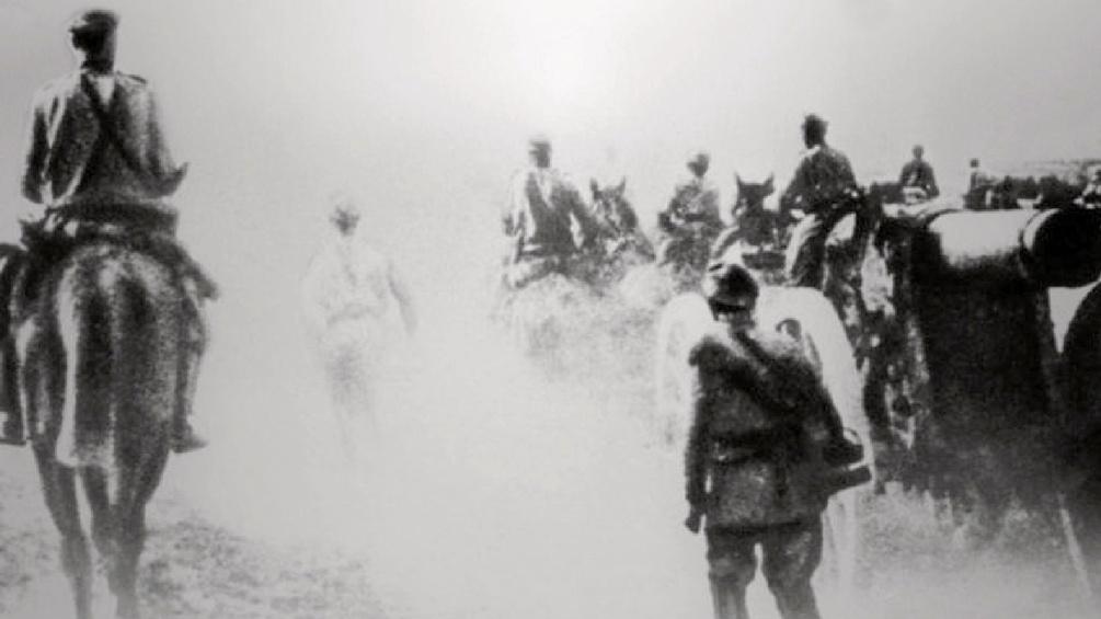 Kampfszene im 1. Weltkrieg