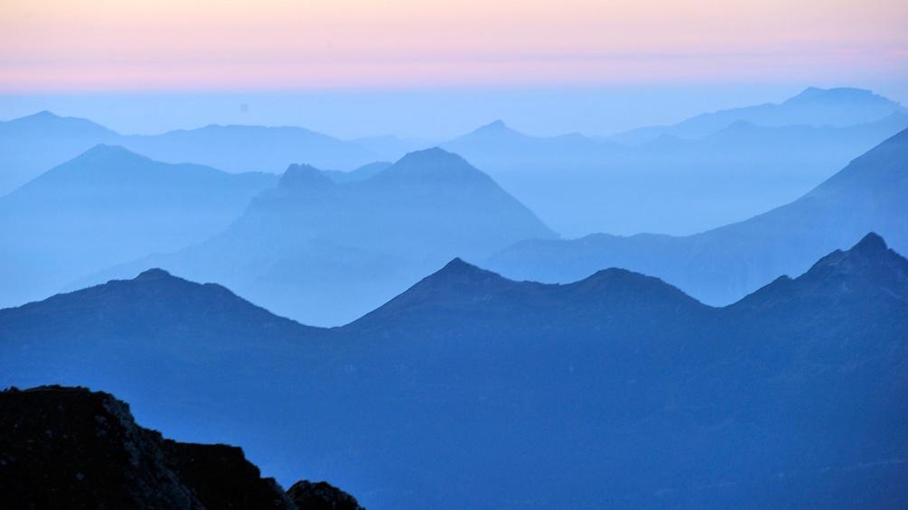 Lechtaler Alpen von Schruns aus gesehen