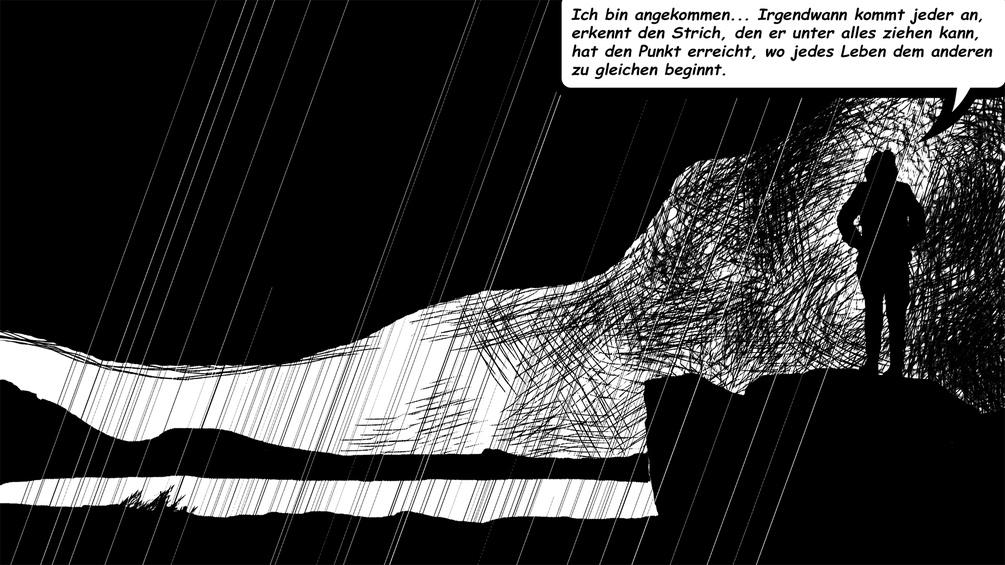 MEnschliche Silhouette. Zeichnung