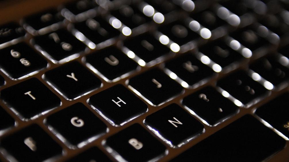 Eine Computertastatur