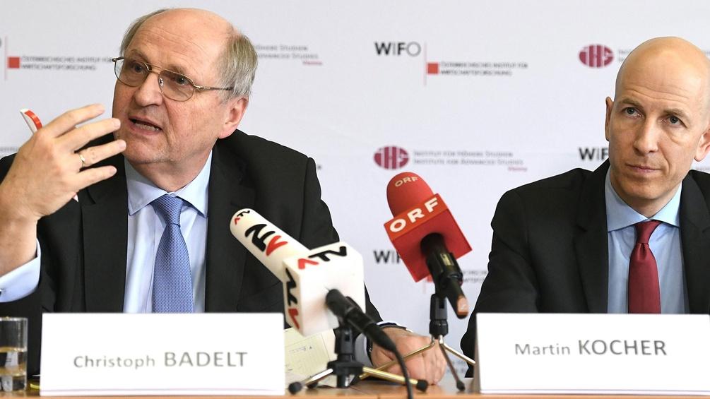 Wifo-Chef Christoph Badelt und IHS-Chef Martin Kocher