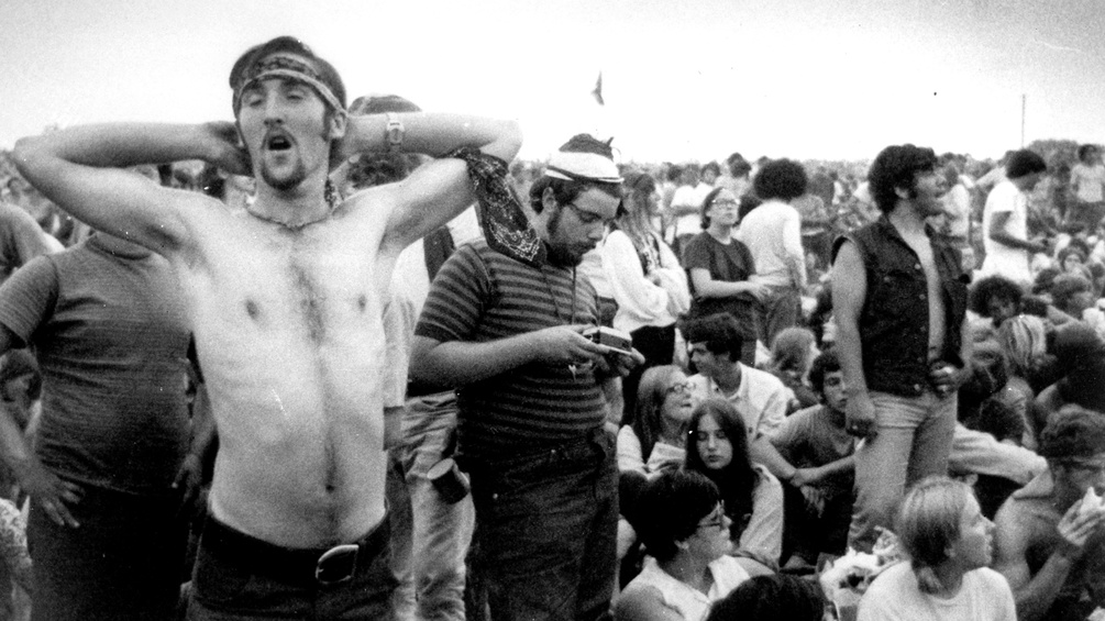 Fans des Woodstock Music & Art Fair