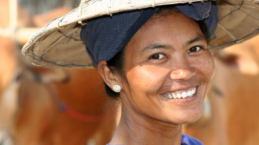 Frau in Myamar