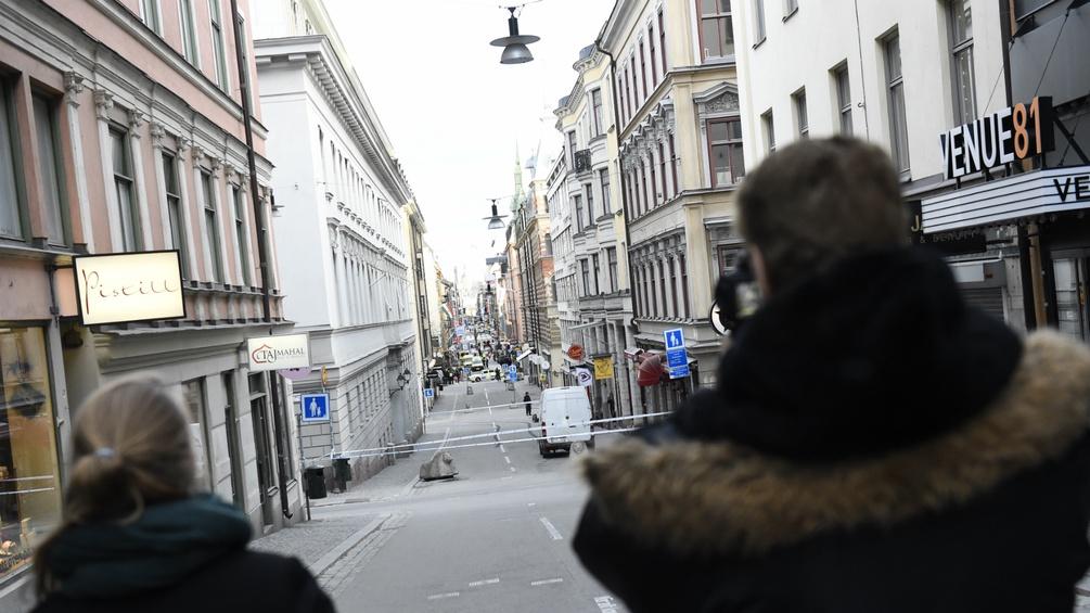 Polizeiabsperrungen in Stockholm