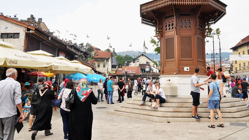 Platz in Sarajevo