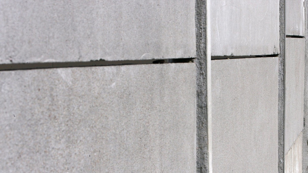 Eine Mauer aus Beton