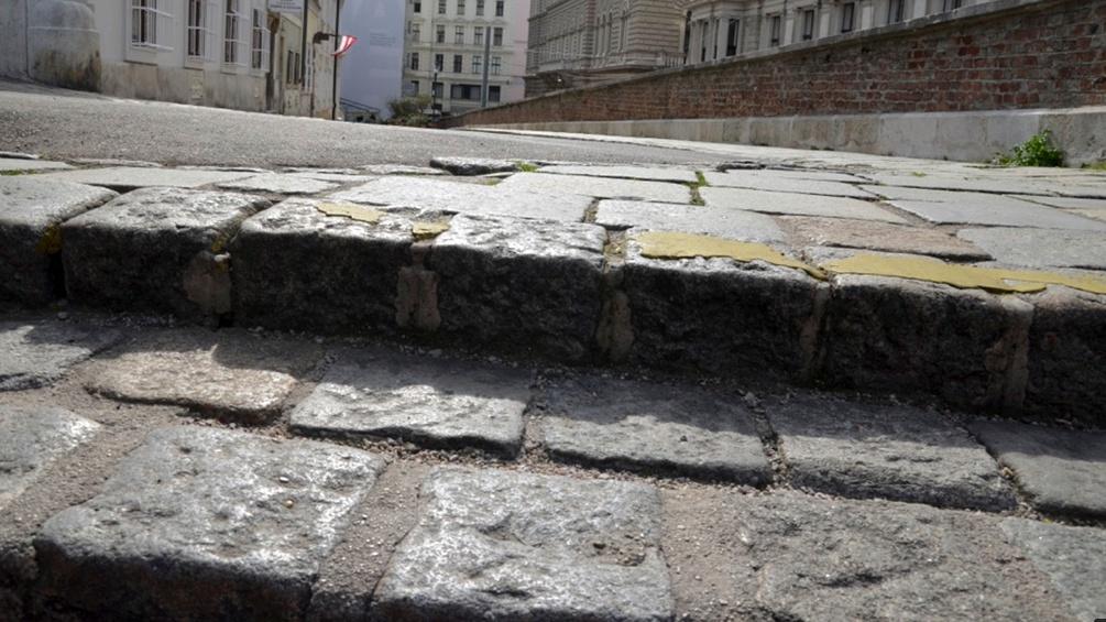 Alte Stufen in Wien