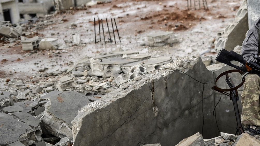 Soldat in Kobane