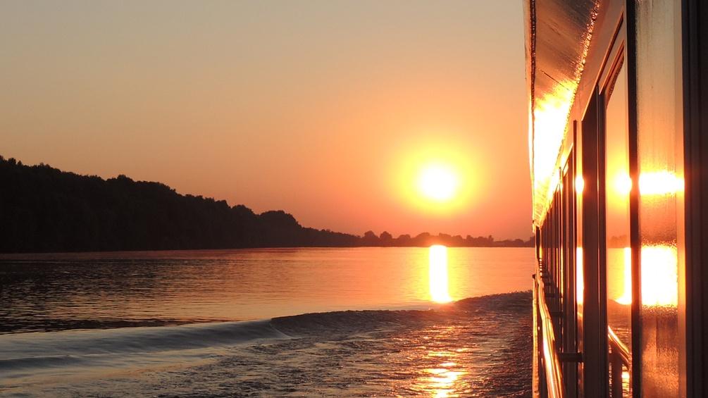 Donau im Sonnenuntergang