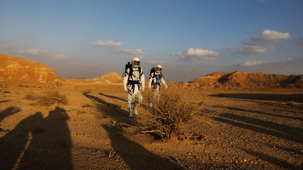 Die Desert Mars Analog Ramon Station in Israel.