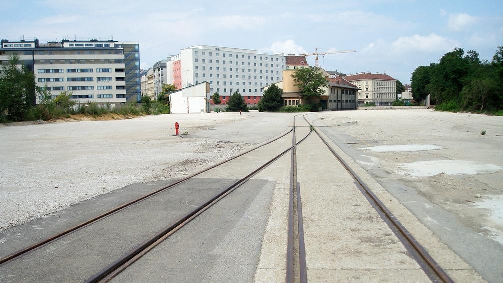 Gleise auf dem alten ÖBB-Gelände