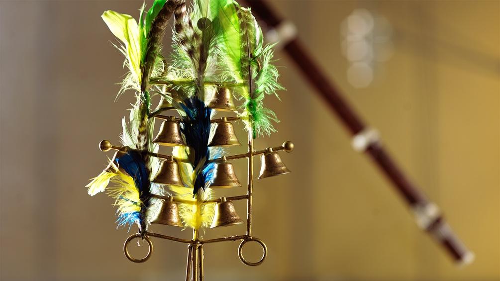 Glockenspiel mit Federn