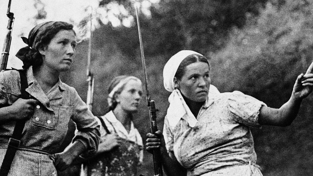 Bewaffnete russische Frauen, 1841