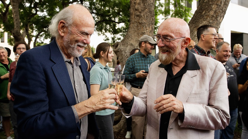 Barry Barish und Kip Thorne