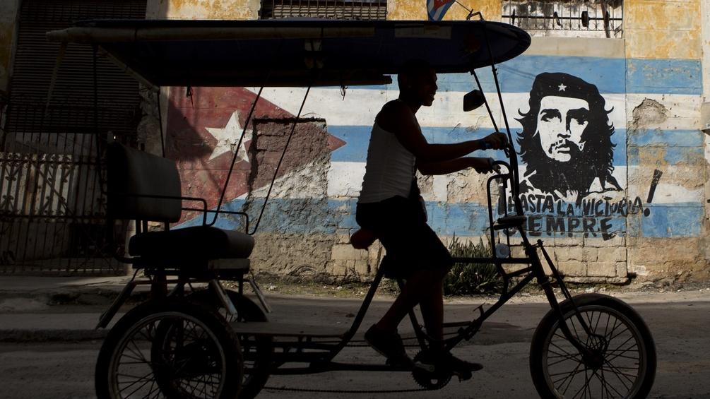 Che Guevara auf eine Wand gemalt