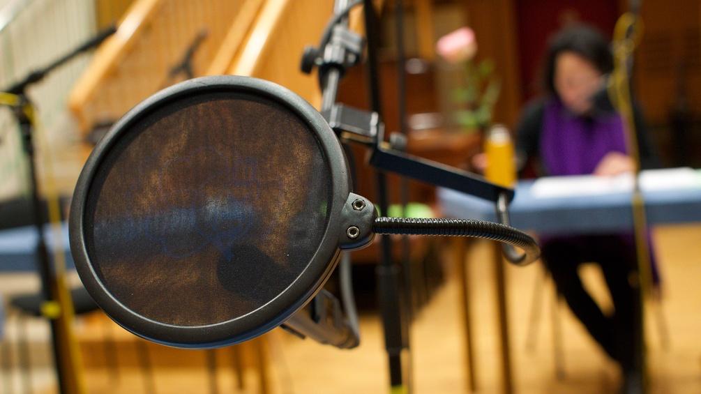 Mikro-Schutz im Hörspiel-Studio