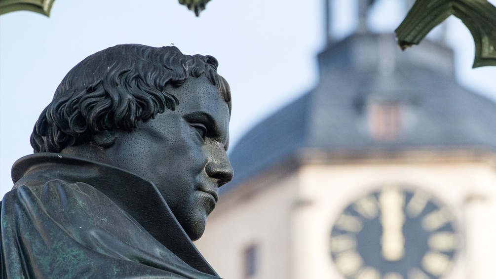 Das Denkmal des Reformators Martin Luther