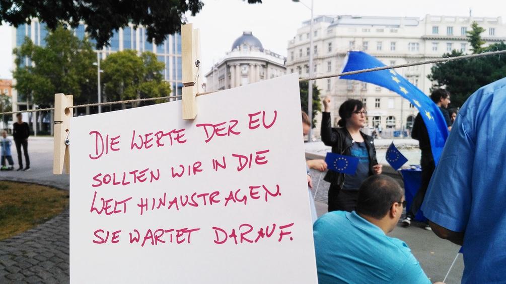 Plakat einer Demonstration