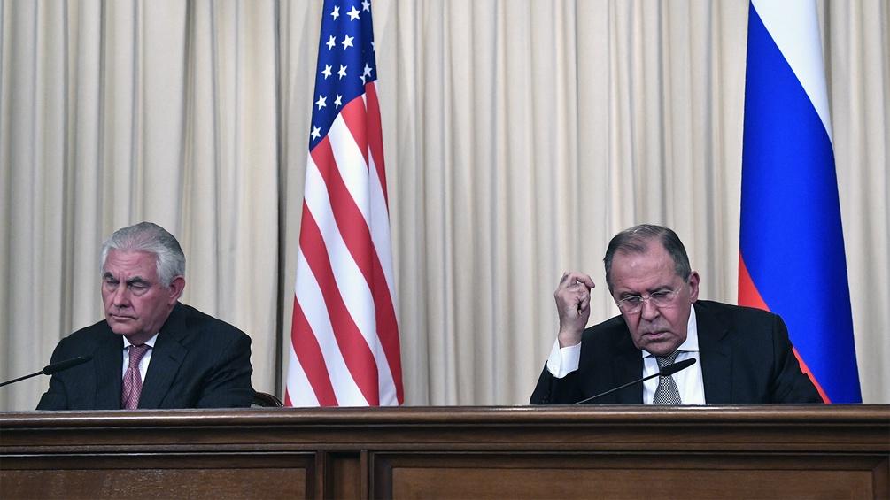Sergei Lavrov und Rex Tillerson