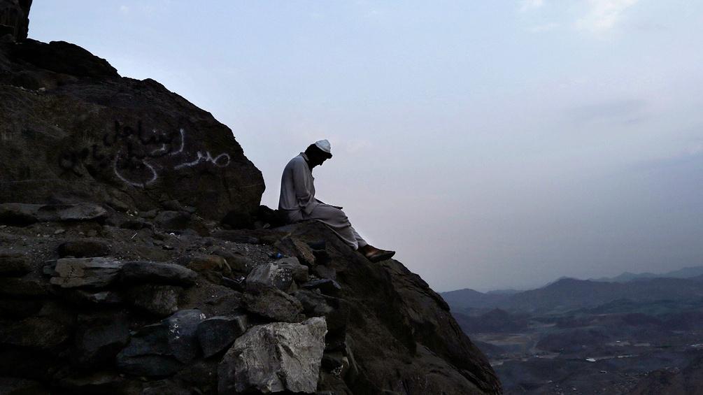 Betender auf Berg Hira