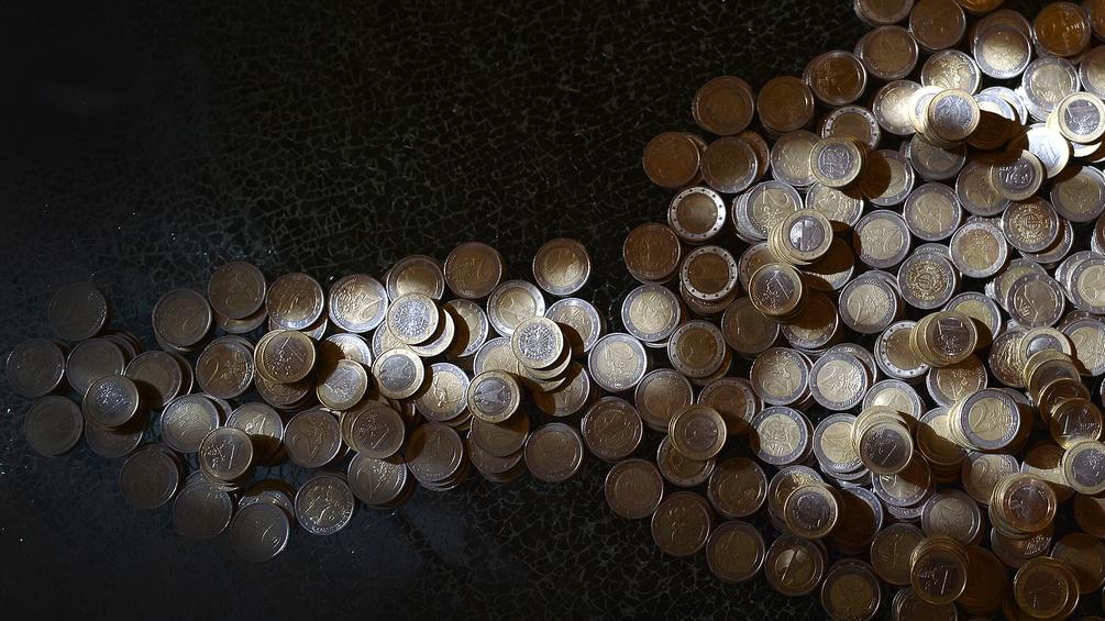 Ein- und Zwei-Euro-Münzen