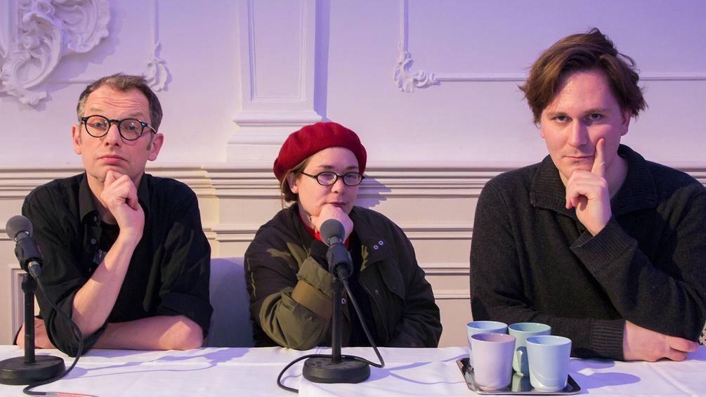 Severin Groebner, Stefanie Sargnagel und Hosea Ratschiller