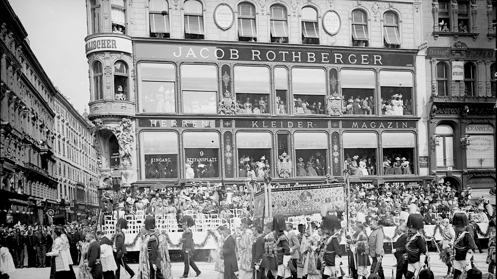 Historisches Foto: Kaufhaus Rothberger am Stephansplatz
