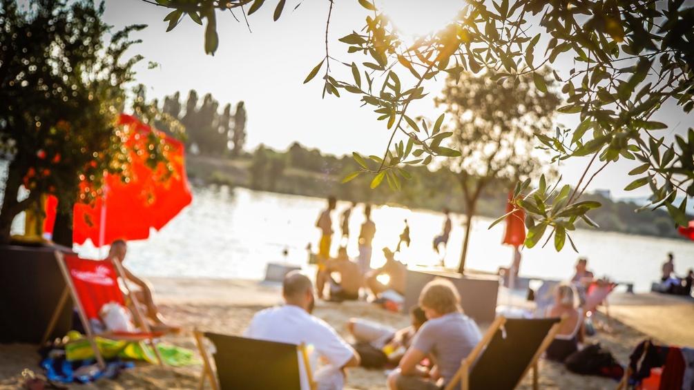 Strand an der Neuen Donau