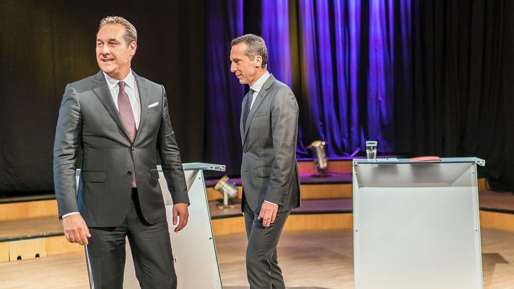 HC Strache und Christian Kern