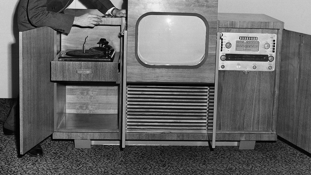 Fernsehplattenspieler-Entertainmentset