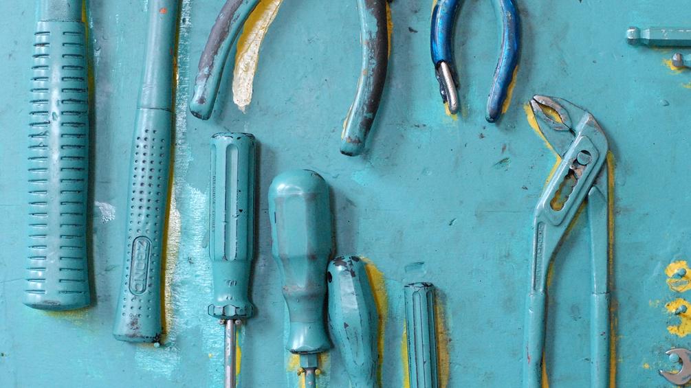 Werkzeug an der Wand