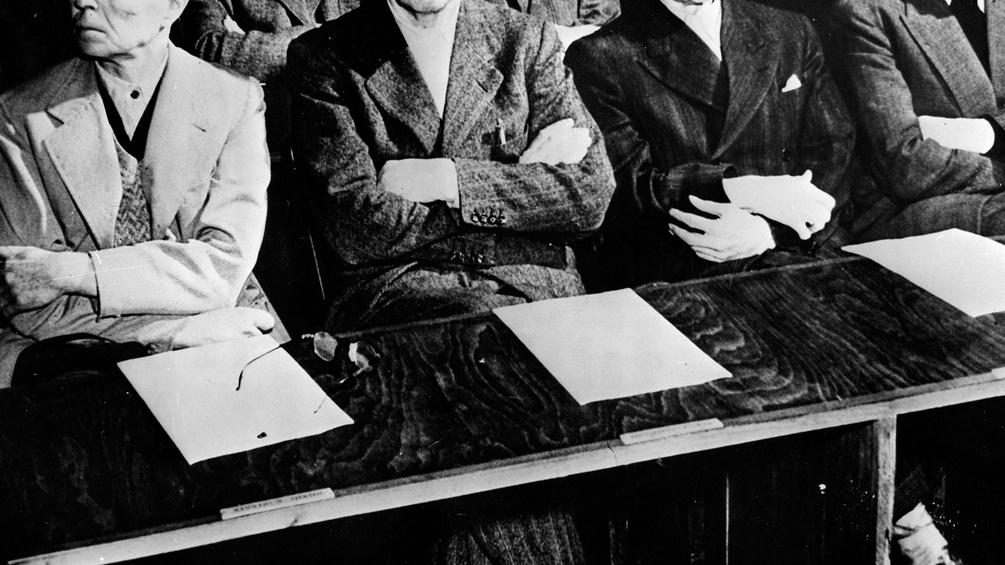 Angeklagte beim Nürnberger Prozess