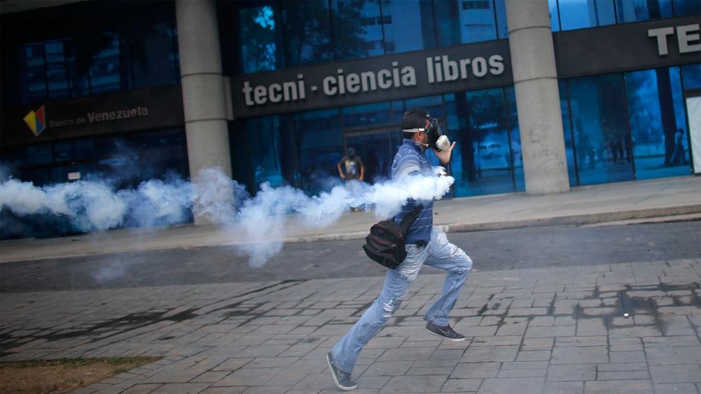 Venezulanischer Demonstrant
