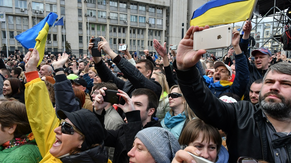 DemonstrantInnen in der Ukraine