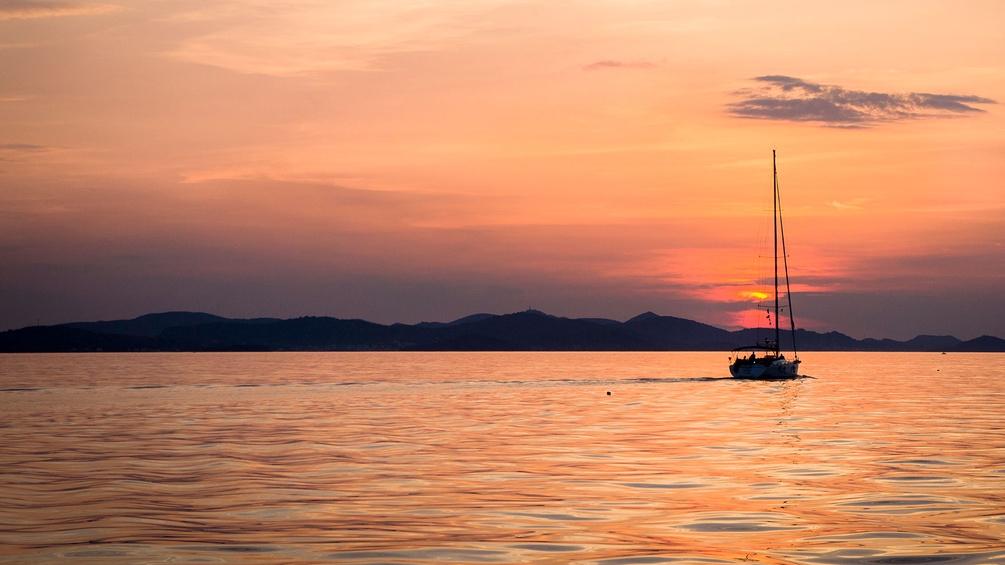 Dalmatien, Meer und Boot