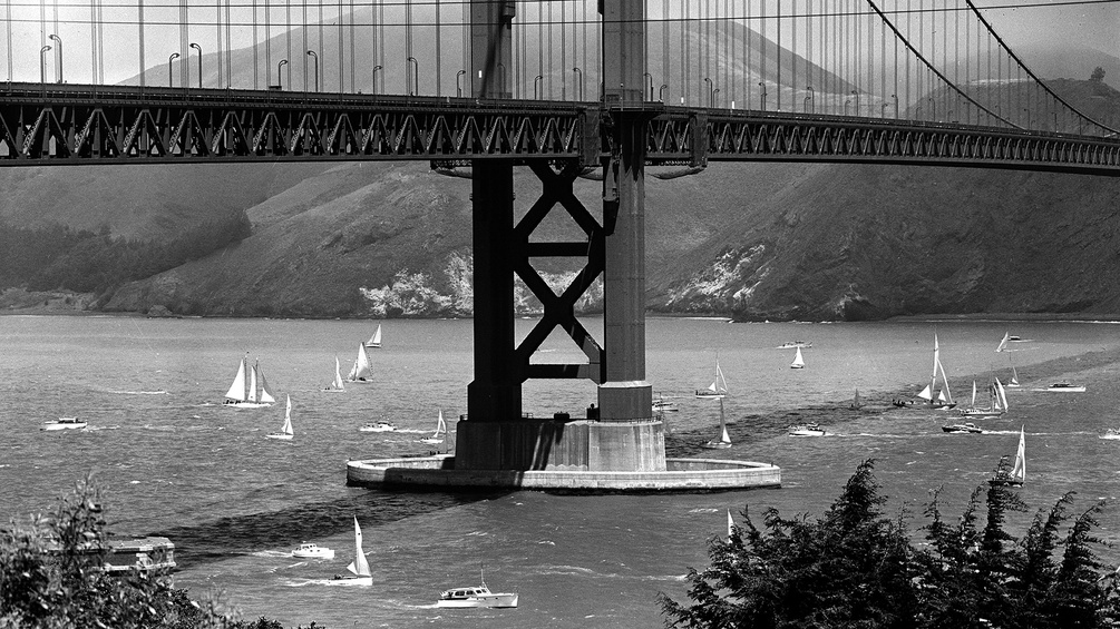 Golden Gate Bridge, 1957