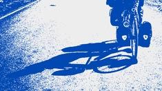 Schatten eines Fahrrads