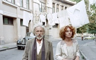 Filmszene in den Staßen von Tiflis