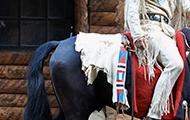 Winnetou auf einem Pferd