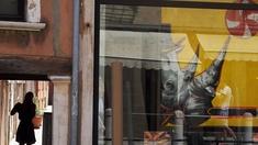 Frau in Venedig, Nashornplakat