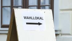 Wegweiser zu einem Wahllokal