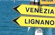 Richtungsschilder nach Vedenig und Lignano