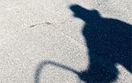 Schatten eines Mannes mit Hut