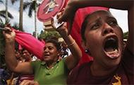 Demonstrierende Frauen in Nicaragua