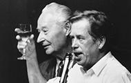 Dubcek und Havel am 24. November 1989
