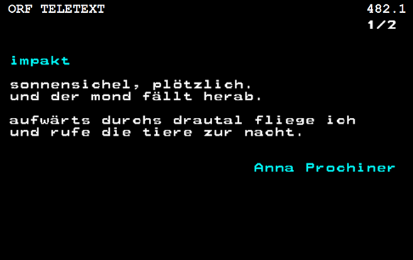 "Screenshot des Gedichtes ""impakt"""