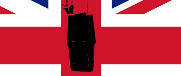 Union Jack mit Mikrofon