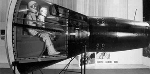 Foto aus der Ausstellung zum GEMINI Programm im TMW 1967.