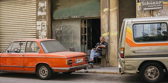 Im Beiruter Stadtteil Mar Mikhael erinnert nur noch wenig an vergangene Tage.